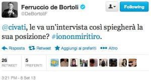 De Bortoli a Civati