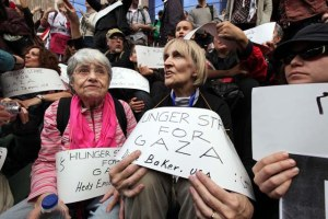 Hedy Epstein, 85, (L) a a US activist an