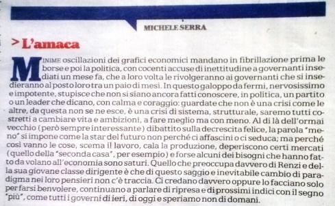 Da 'La Repubblica', 7 agosto 2014
