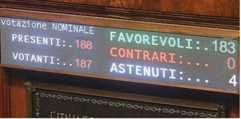 Senato voto