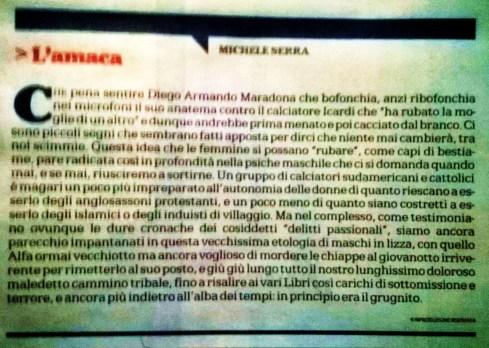 L'amaca di Michele Serra (da la Repubblica del 3 settembre 2014)