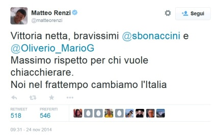 Renzi tw