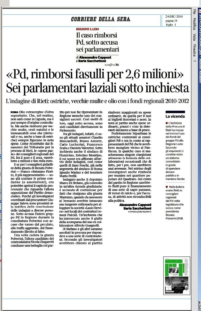 R. Lazio indagati