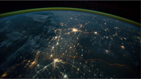 La terra dallo spazio