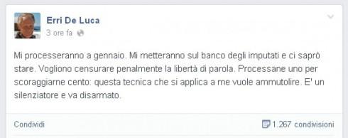 tweet Erri De Luca