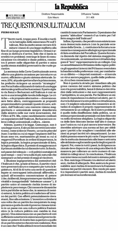 Italicum IGNAZI