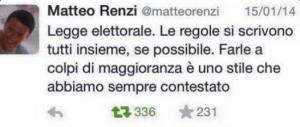 tw Renzi Maggioranza