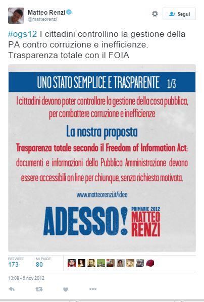 Renzi FOIA 2012