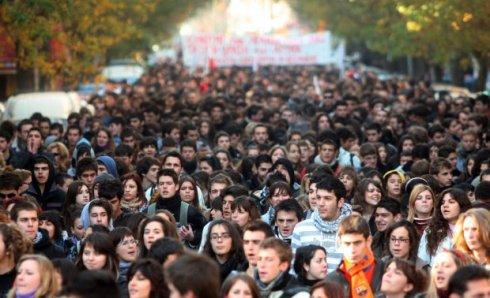 Dimostrazione ad Atene.