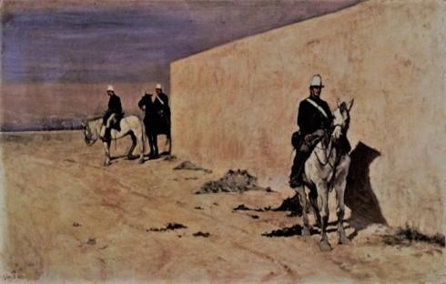 """Giovanni Fattori - """"In vedetta"""" - 1872"""